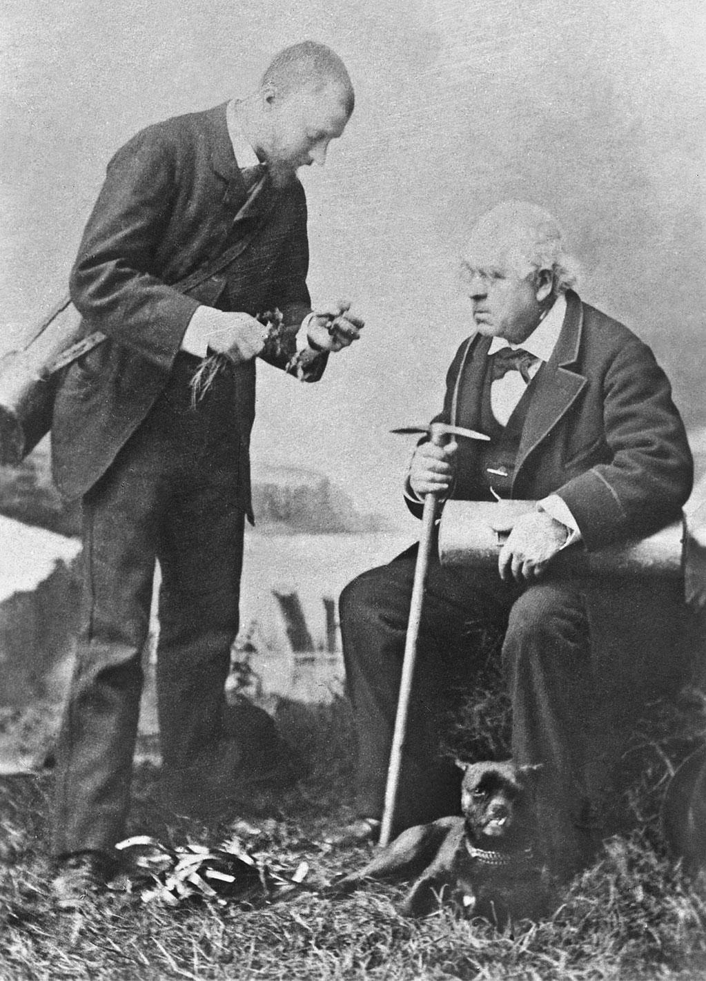 Ici en 1887, les botanistes montpelliérains Flahaut et BarrandonIci en 1887, les botanistes montpelliérains Flahaut et Barrandon